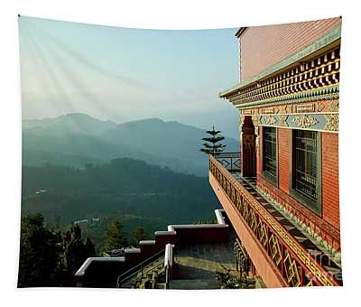 Tapestry featuring the photograph Ancient Buddhist Monastery In Nepal by Raimond Klavins