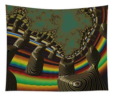 Ancient Civilizations Fractal Abstract Tapestry