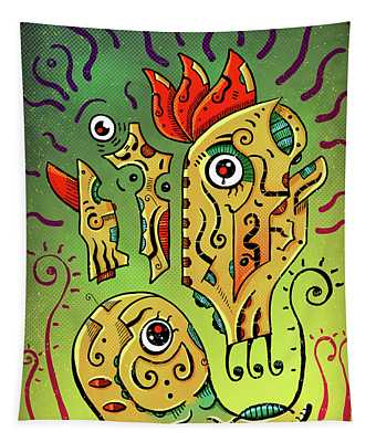 Tapestry featuring the digital art Ancient Spirit by Sotuland Art