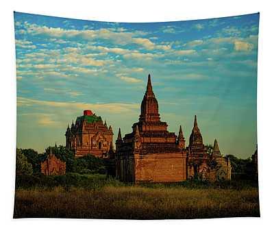 Ancient Stupas In Bagan Myanmar Tapestry