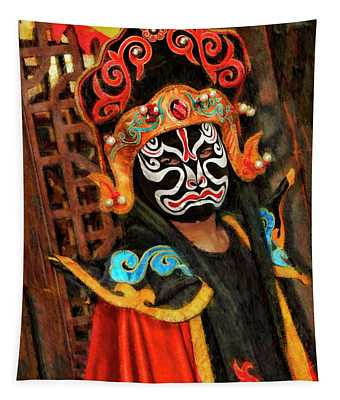 Ancient Traditions Sichuan Opera  Tapestry