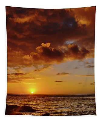 And Then The Sun Set Tapestry