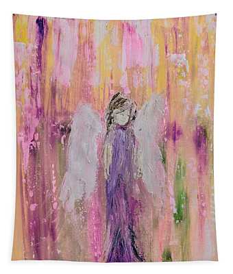 Angel In  Paradise Tapestry
