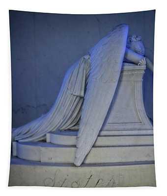 Angel Weeping Tapestry