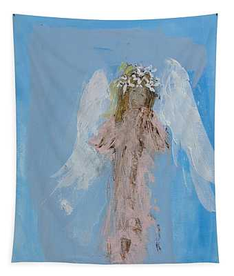 Angel With A Crown Of Daisies Tapestry