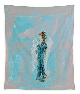 Angel With Character Tapestry