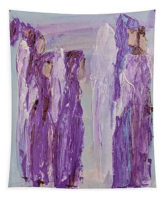 Angels In Purple Tapestry