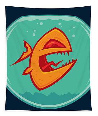 Angry Goldfish Tapestry
