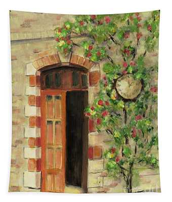 Annot, France Train Station Tapestry