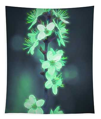 Another World - Glowing Flowers Tapestry
