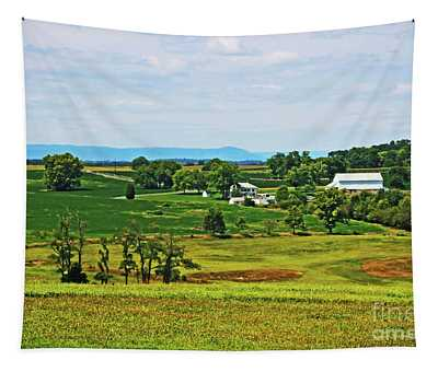 Tapestry featuring the photograph Antietam Battlefield And Mumma Farm by Patti Whitten