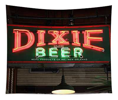 Antique Dixie Beer Neon Sign Tapestry