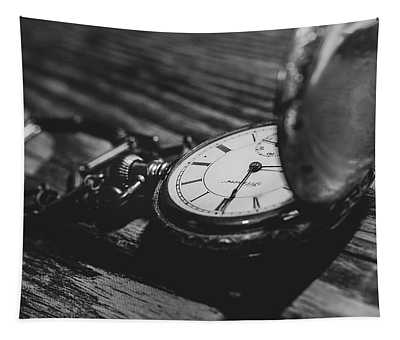 Antique Pocket Watch Bw Tapestry