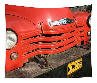 Antique Truck Red Cuba 11300502 Tapestry