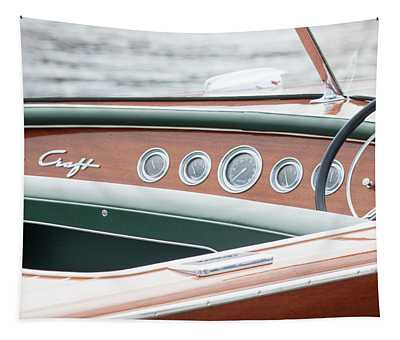 Antique Wooden Boat Dashboard 1306 Tapestry