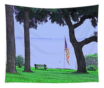 A Patriotic Scenic View From Fairhope Alabama Tapestry