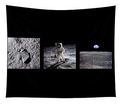 Apollo 11 Triptych Tapestry