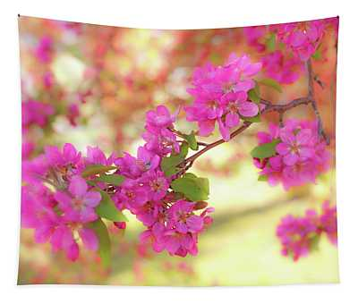 Apple Blossoms B Tapestry