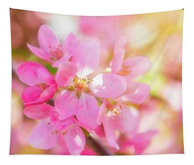 Apple Blossoms Cheerful Glow Tapestry