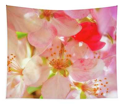 Apple Blossoms Textures Tapestry