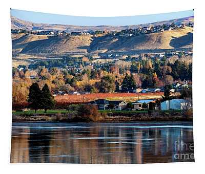 Tapestry featuring the photograph Apple Country Along The Columbia River by Mae Wertz
