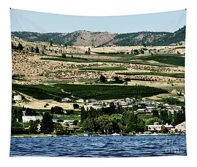 Tapestry featuring the photograph Apple Farming On The Hills Of Wenatchee by Mae Wertz