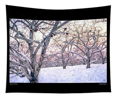 Apples In Winter Fine Art Poster Tapestry