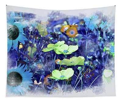 Aqua Blue Tapestry