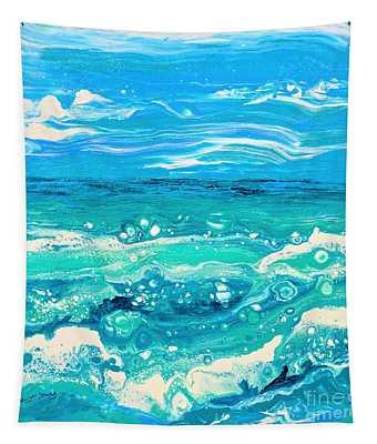 Aqua Seafoam Tapestry