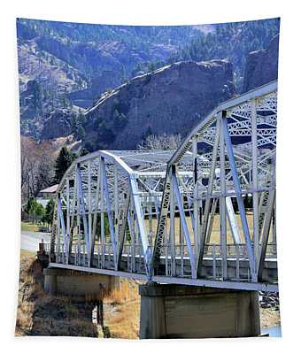 Arched Bridge And Hills Tapestry
