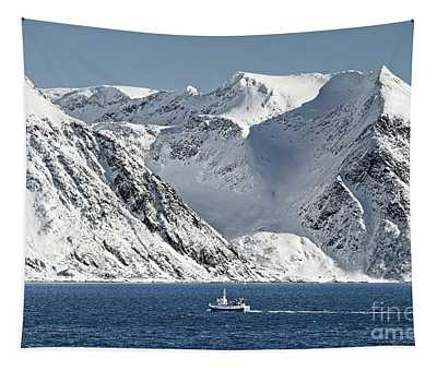 Arctic Landscape And Mountains Tapestry