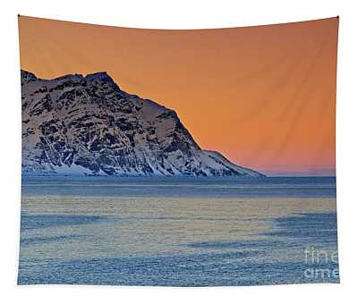Arctic Sunset In Norway Tapestry