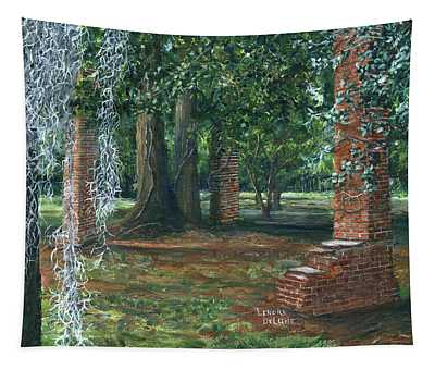 Ardoyne Ruins Near The Mansion, Houma, Louisiana Tapestry