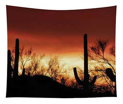 Arizona Monsoon Sunset 2019 Tapestry