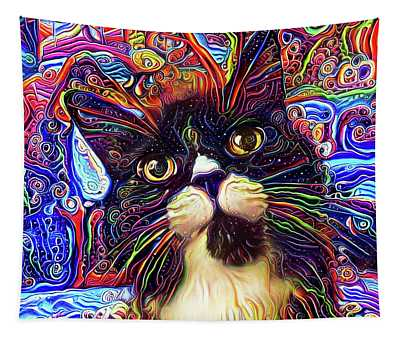 Armani The Tuxedo Cat Tapestry