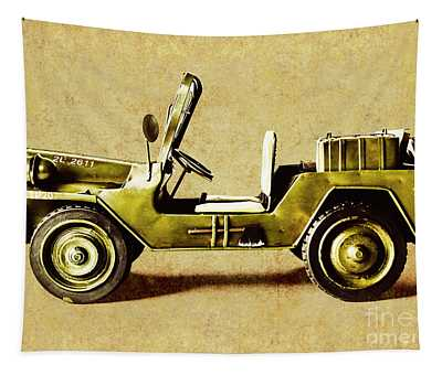 Army Jeep Tapestry
