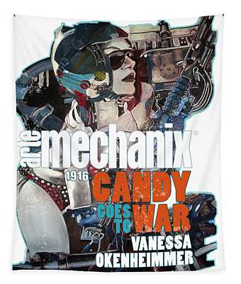 arteMECHANIX 1916 CANDY GOES TO WAR  GRUNGE Tapestry