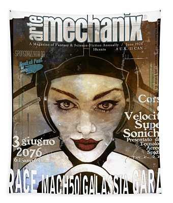 arteMECHANIX 1924 RACE MACH50 GRUNGE Tapestry