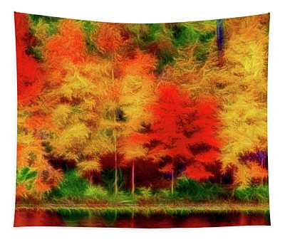 Artistic 2 Fall Colors Tapestry