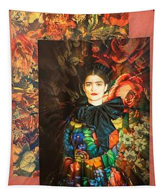 Artistic Frida Kahlo Stream  Tapestry