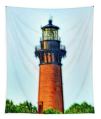 Artistic II Lighthouse-currituck Nc Tapestry