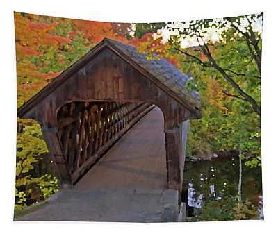 Artistic Rendering Of Henniker Bridge Tapestry