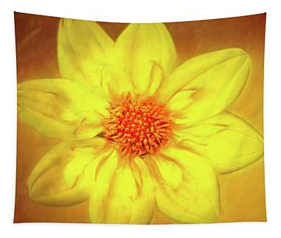 Artistic Yellow Dahlia Tapestry
