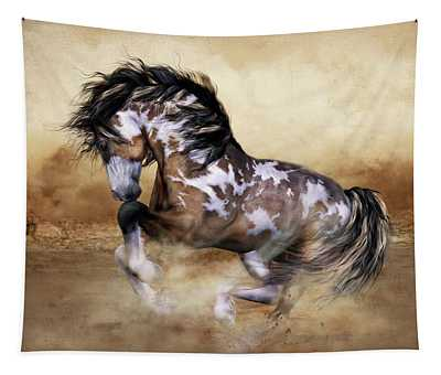 Wild And Free Horse Art Tapestry