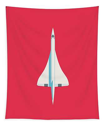Concorde Jet Airliner - Crimson Tapestry
