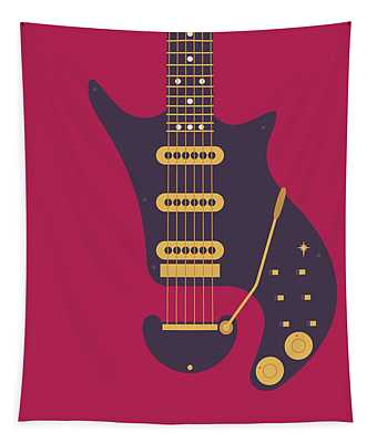 Red Special Guitar - Burgundy Tapestry