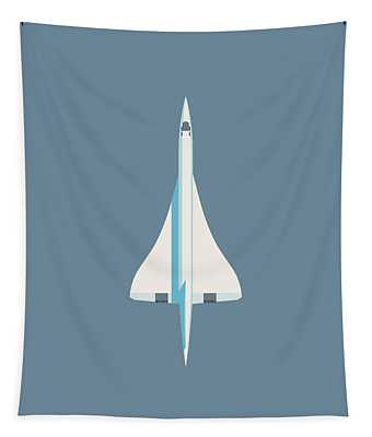Concorde Jet Passenger Airplane Aircraft - Slate Tapestry