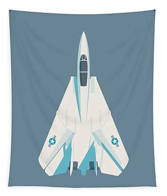 F14 Tomcat Fighter Jet Aircraft - Slate Tapestry