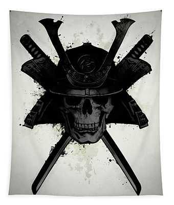 Samurai Skull Tapestry