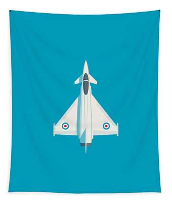 Typhoon Jet Fighter Aircraft - Cyan Tapestry